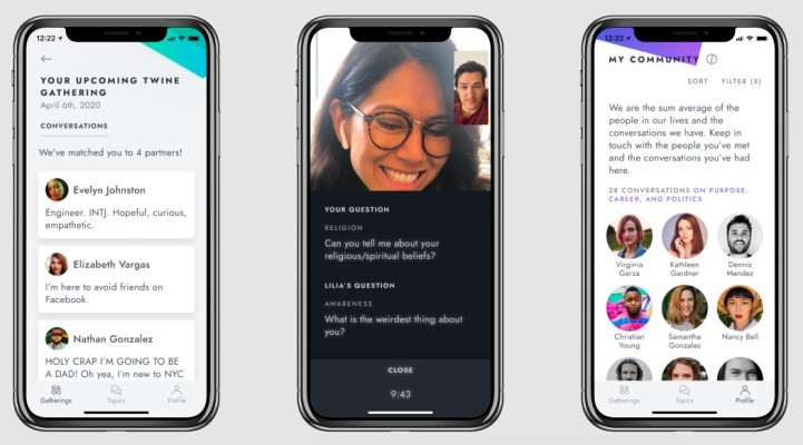 Twine aims to end social isolation with its video chat app for deep conversations