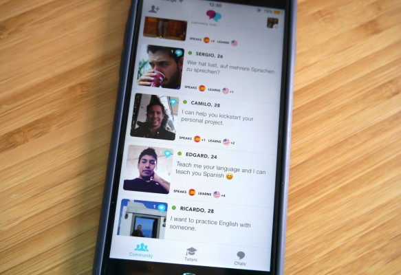 Tandem is a messaging app where language learners chat