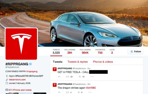 Tesla's Site And Twitter Account Hacked