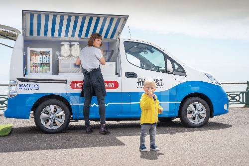 Nissan's zero-emission ice cream van uses old EV batteries to keep things cool