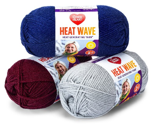 Red Heart's Heat Wave yarn knits together hand-crafting and new textile technology