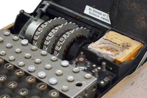 Bidding for this like-new Enigma Machine starts at $200,000
