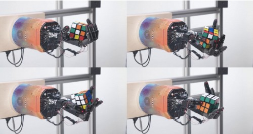 Watch OpenAI's 'human-like' robot solve a Rubik's Cube one-handed