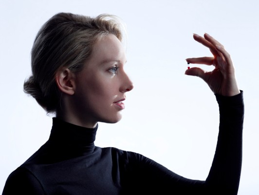 "Elizabeth Holmes is finally presenting her technology to scientists, including a ""miniLab"""