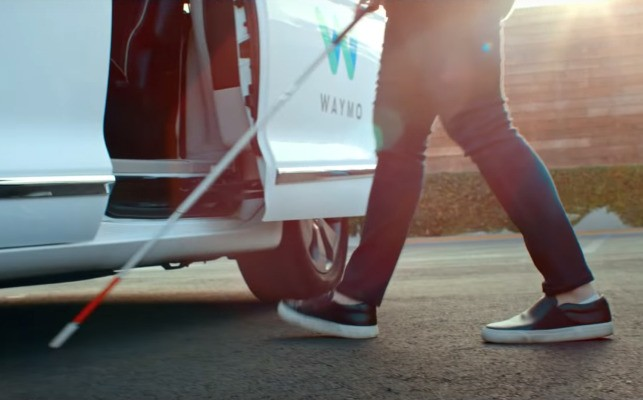 Hailing a self-driving taxi when blind. Learn how Waymo answers that challenge at Sight Tech Global