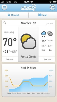 "Mobile Weather App Minutely Lets You ""Correct"" The Weather, Visualize Storms In 3D"