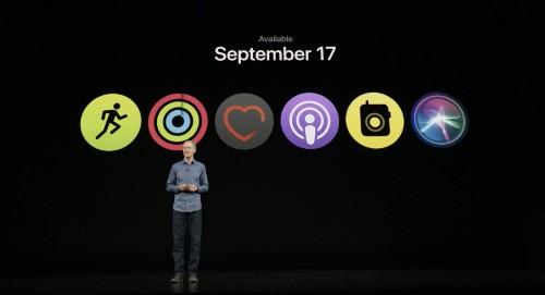 Apple watchOS 5 ships on September 17