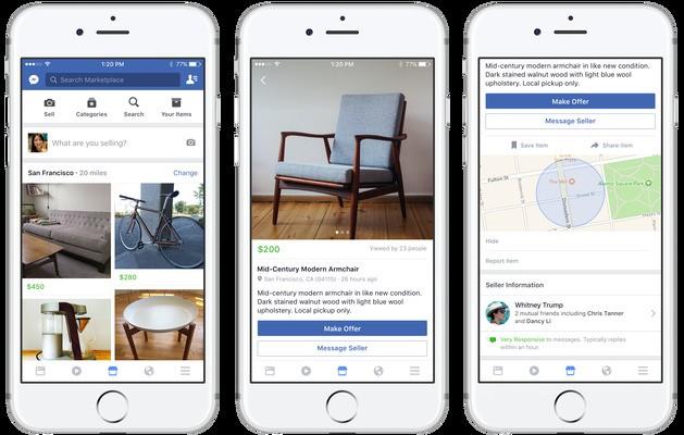 Facebook launches Marketplace, a friendlier Craigslist
