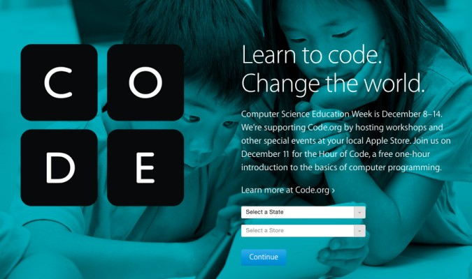 Apple Stores Will Host Free Coding Workshops For Second Annual 'Hour of Code'