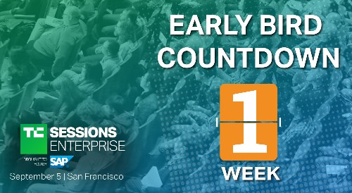 Early bird pricing ends next week for TC Sessions: Enterprise 2019