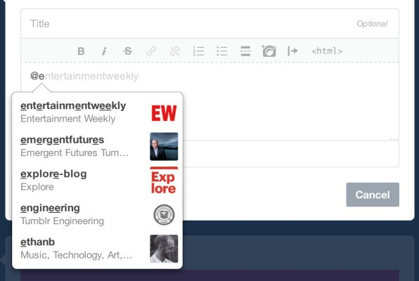 Tumblr Adds Support For @ Mentions, Similar To Twitter