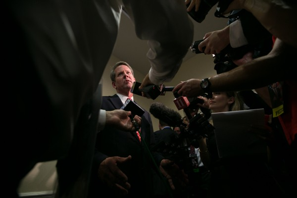 Georgia's secretary of state Brian Kemp doxes thousands of absentee voters