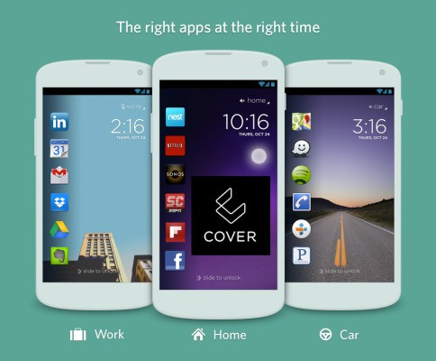 Cover Is An Android-Only Lockscreen That Shows Apps When You Need Them