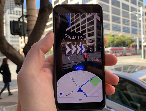 Google launches 'Live View' AR walking directions for Google Maps