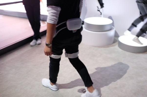 Taking a stroll with Samsung's robotic exoskeleton