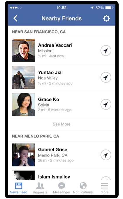 Hands On With Facebook Nearby Friends [Video]: No More Checkins