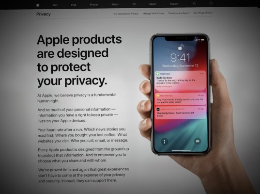 Apple overhauls its privacy pages, and now lets U.S. customers download their own data