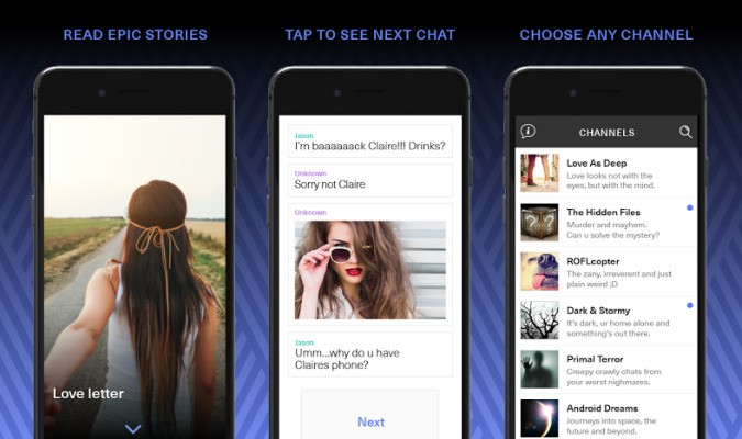 Hooked Is An App For Readers Who Think Fiction Should Be More Like Text Messaging
