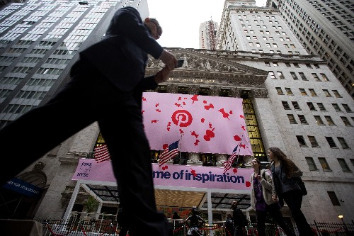 Pinterest opens up 25% in its first day of trading