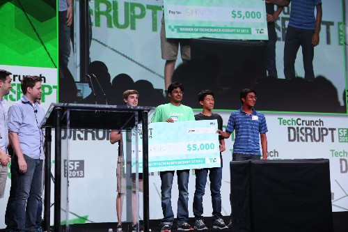Spruce Crowned The Disrupt SF 2013 Hackathon Grand Prize Winner, Cloudiverse And AdFree Take Second And Third