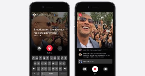 """Facebook Launches """"Live"""" Streaming Video Feature, But Only For Celebrities – TechCrunch"""