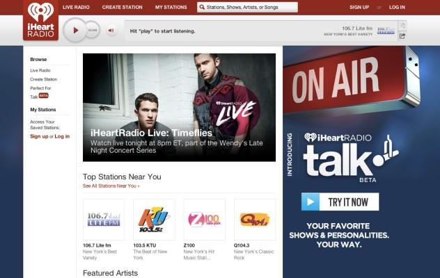 Clear Channel Launches iHeartRadio Talk, Letting Everyone From Jimmy Kimmel To Joe Six Pack Be Heard