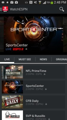 ESPN Launches A New WatchESPN App For Android, With Monday Night Football And On-Demand Clips