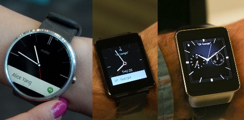 Android Wear Wars: The Moto 360, LG G Watch And Samsung Gear Live Compared
