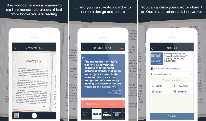 Quotle Is Instagram And OneShot For Book Quotes
