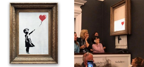 Banksy piece immediately shreds itself after being sold for $1.1M