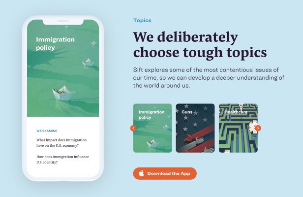 Sift's 'news therapy' app aims to promote understanding, not anxiety