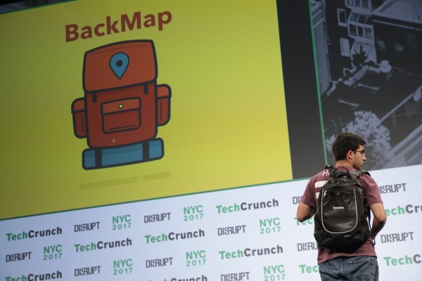 BackMap helps people who are visually impaired navigate cities and indoor areas