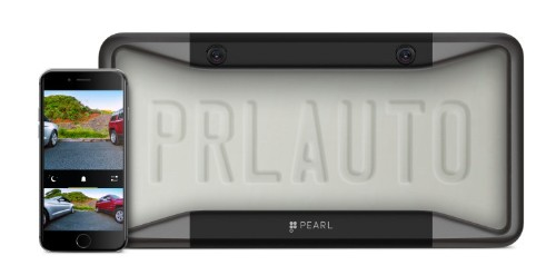 Pearl Automation's license plate cover puts a car backup camera on your phone