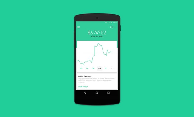 No-Fee, Stock-Trading App Robinhood Is Now On Android