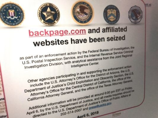 The government seizes Backpage.com