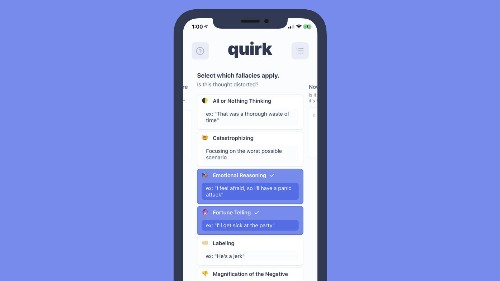 Quirk wants to make cognitive behavioral therapy more accessible