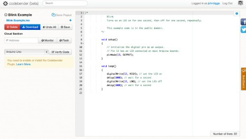 CodeBender.CC Makes It Crazy Easy To Program Your Arduino Board From Your Browser
