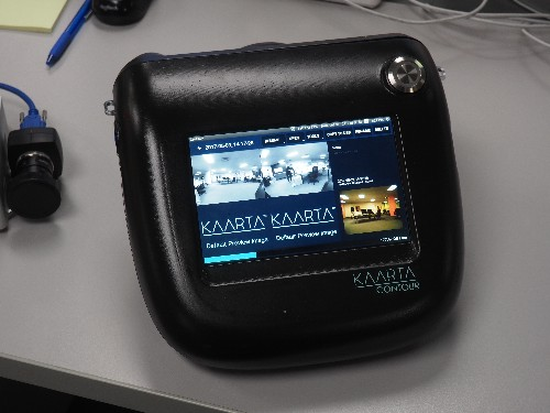 The Kaarta Contour handheld scanner uses LIDAR to map spaces in real time