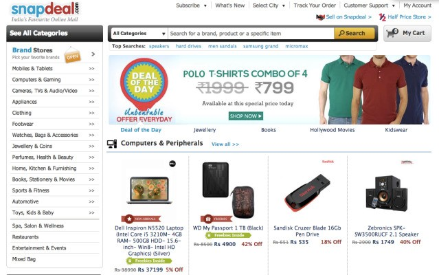 EBay Beats Out Amazon To Lead $50M Round In India's E-Commerce Giant Snapdeal To Build Up Its BRIC Business