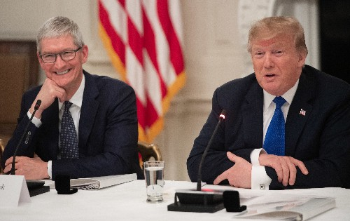 Trump and Tim Cook talked easing tariffs again