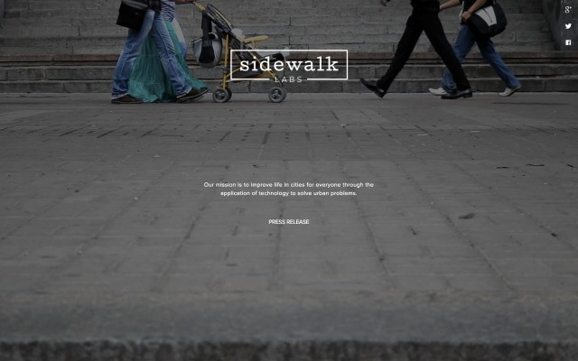 Google's New Sidewalk Labs Project Will Use Tech To Improve Life In Urban Areas