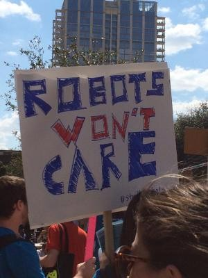 Anti-Robot Protest Held At SXSW