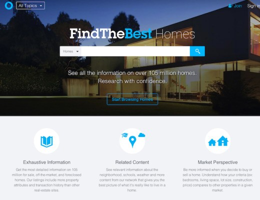 Comparison Site FindTheBest Adds Real Estate Data To Help Home Buyers