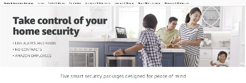 Amazon is now selling home security services, including installations and no monthly fees