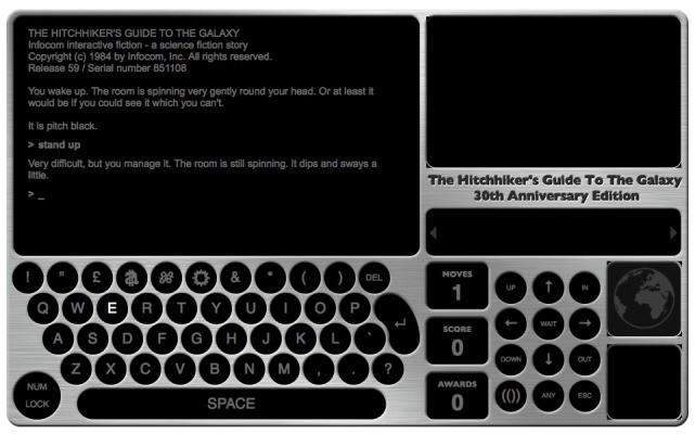 BBC Releases 30th Anniversary Edition Of The Hitchhiker's Guide To The Galaxy Text Adventure Game. You Have Died (And Gone To Gaming Heaven)