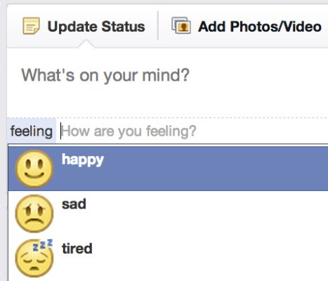 Facebook Asks You To Please Select Your Emotion