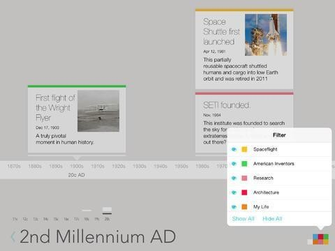 Lineal Timeline Lets You Visualize History (Or The Future) On Your iPad