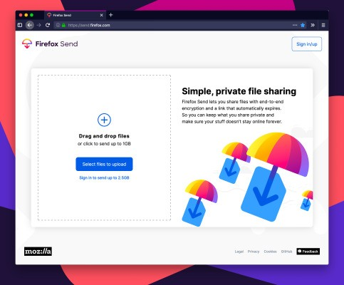 Mozilla launches its free, encrypted file-sharing service, Firefox Send – TechCrunch