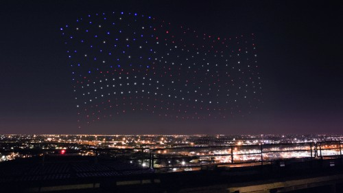 Intel powered the drones during Lady Gaga's Super Bowl halftime show