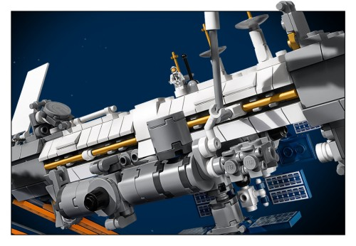 Max Q: Lego Space Stations and robot astronauts